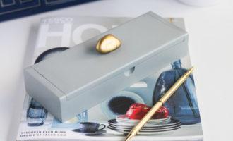 DIY spray-painted wooden box
