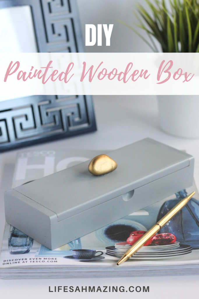 DIY spray-painted wooden box