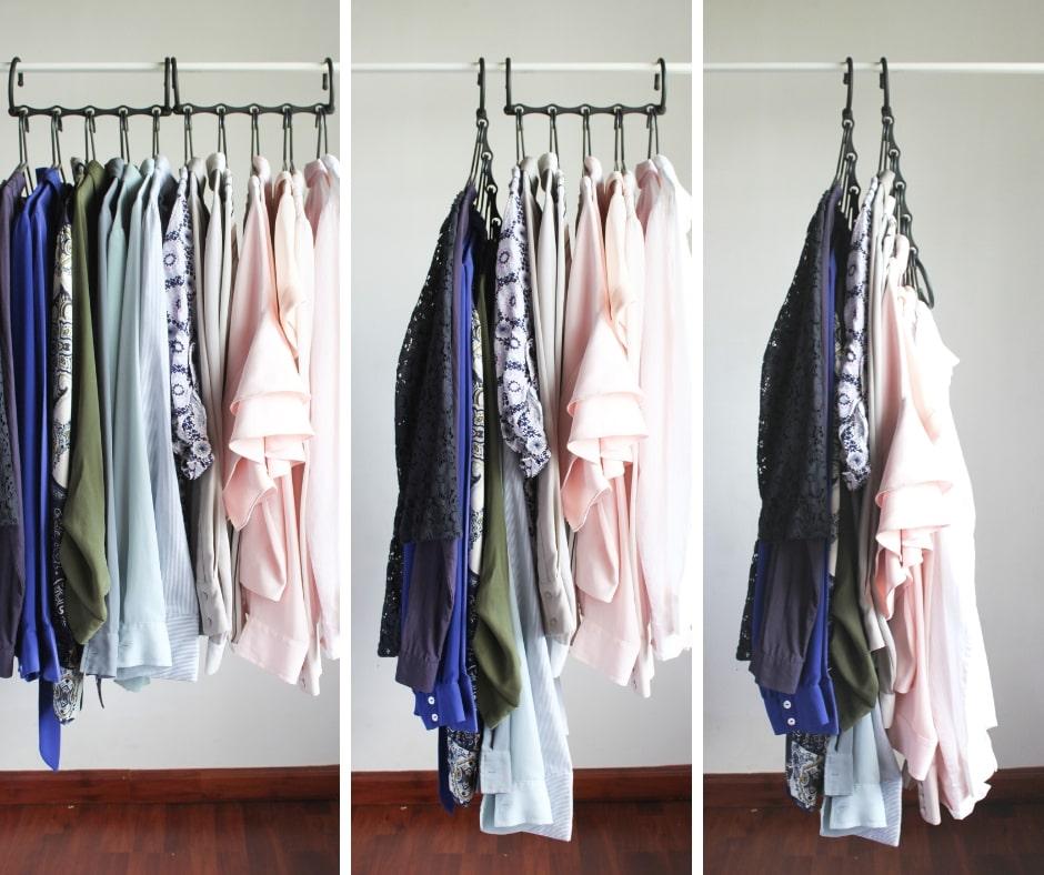 342f7c68f91 Closet organization tip 4  Use space-saving hangers to maximize storage - 7  small