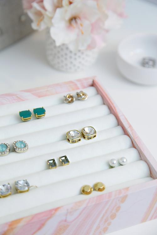 Stylish DIY Jewelry Organizers - DIY Earring Organizer