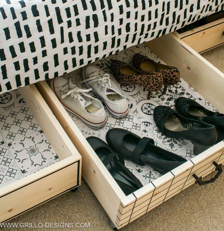 Top 5 Bedroom storage solutions - Under-the-bed storage